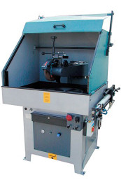 Automatische Poliermaschine zum Polieren von HM-Sägeblättern und Sägegrundkörpern-mit Haube